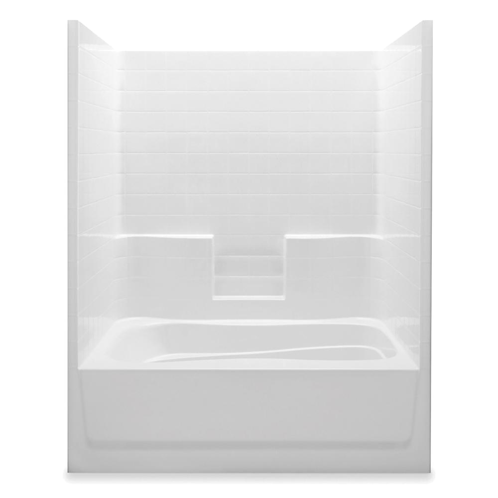 One Piece Bathtubs Aquatic Everyday 60 In X 42 In X 74 In Right Drain 1