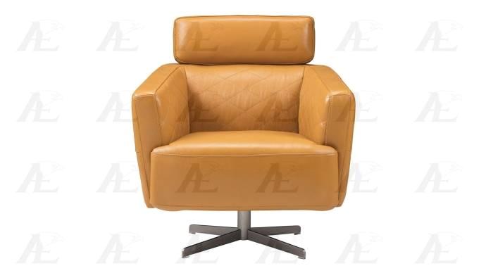 american eagle furniture ek ch07a org orange swivel accent chair full italian leather modern