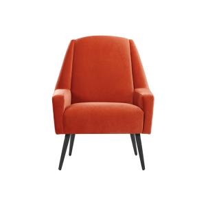 roco accent chair retro orange velvet 5