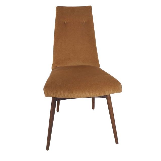 Orange Velvet Accent Chair Mid Century orange Velvet Accent Chair