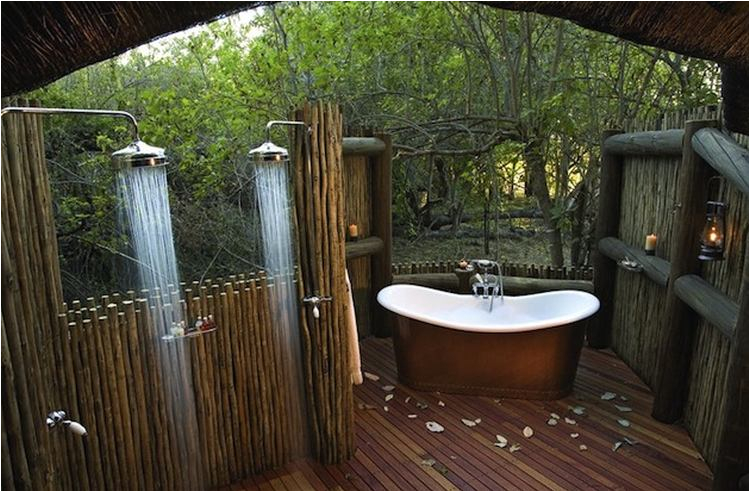 outdoor bathroom ideas tubs showers