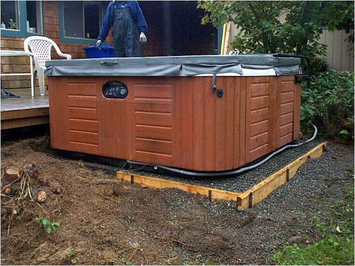 diy hot tub base installation