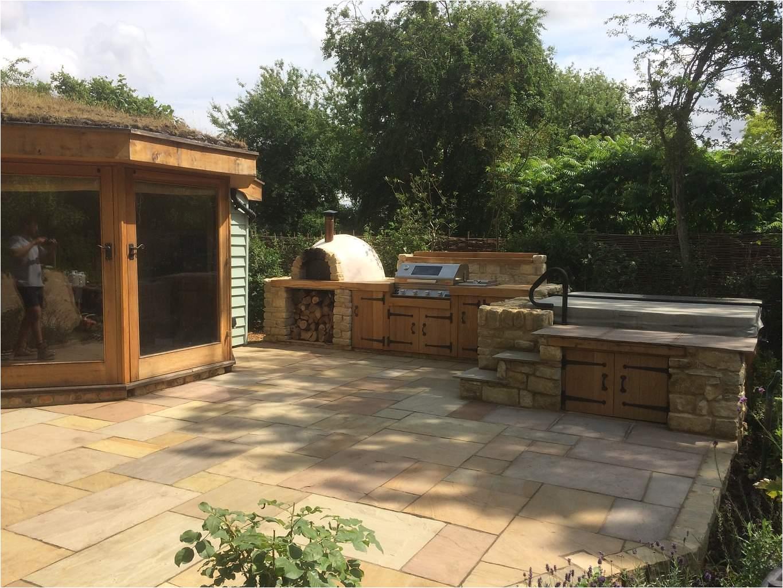 outdoor kitchen hot tub holywell cambridgeshire