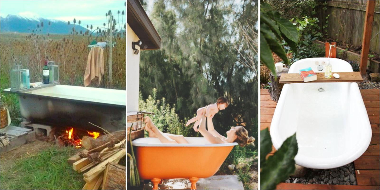 outdoor tubs trend