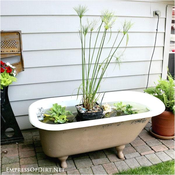 diy bathtub garden pond