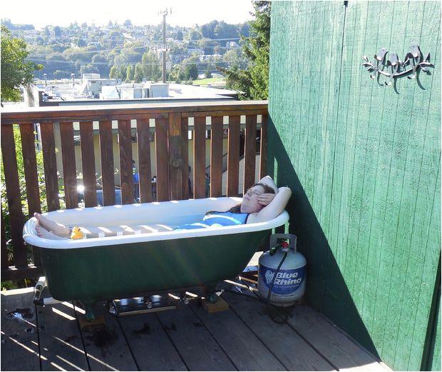 Outdoor Metal Bathtub F Grid Propane Powered Hot Tub