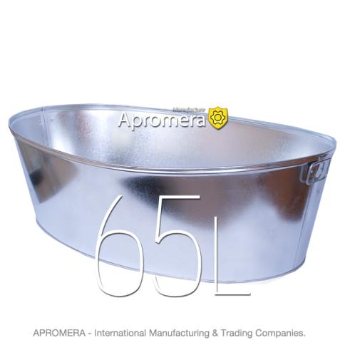 galvanized oval tub 65l