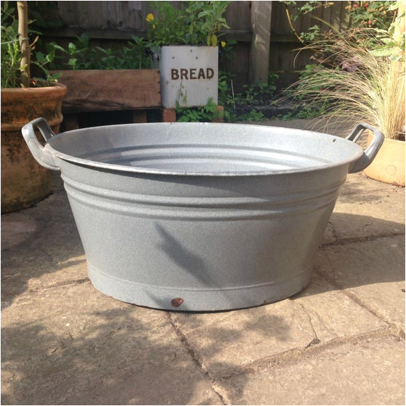vintage enamel oval wash tub bath tub