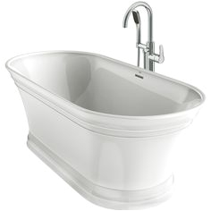 Oval Freestanding Bathtub with Center Drain Jacuzzi fort White Acrylic Oval Freestanding Bathtub