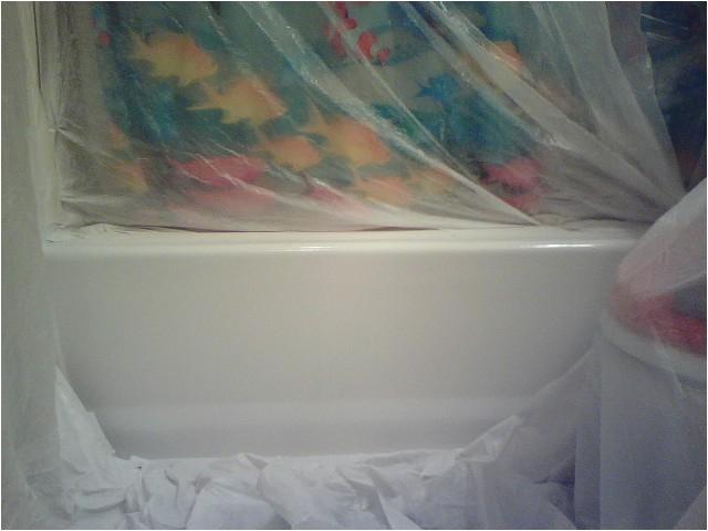 painting outside fiberglass tu shower surround