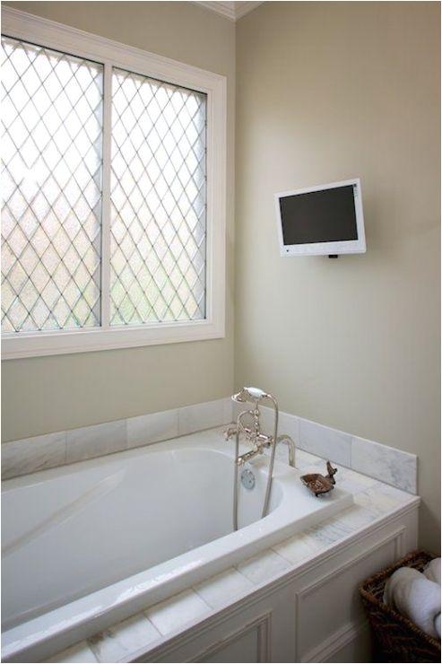 Painting Above Bathtub Tv Bathtub Transitional Bathroom Twin Panies