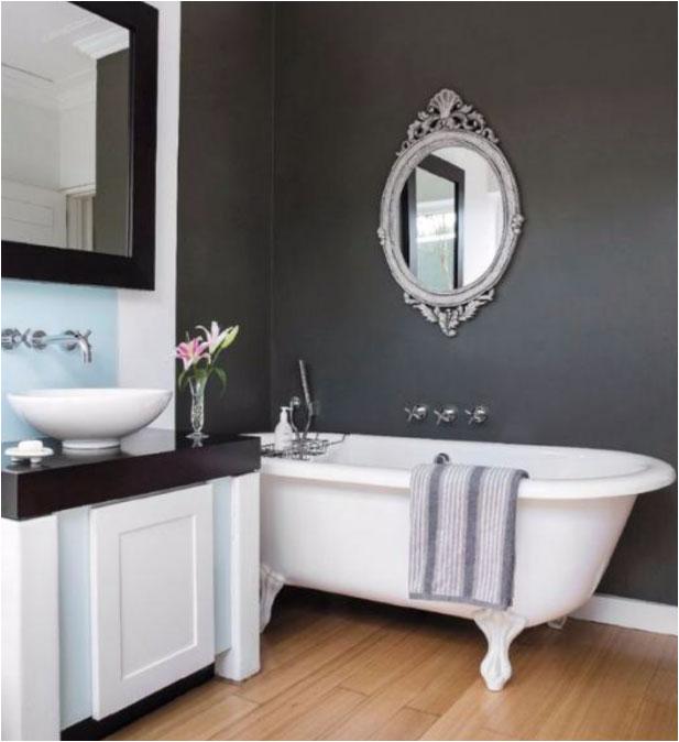 bathrooms black walls