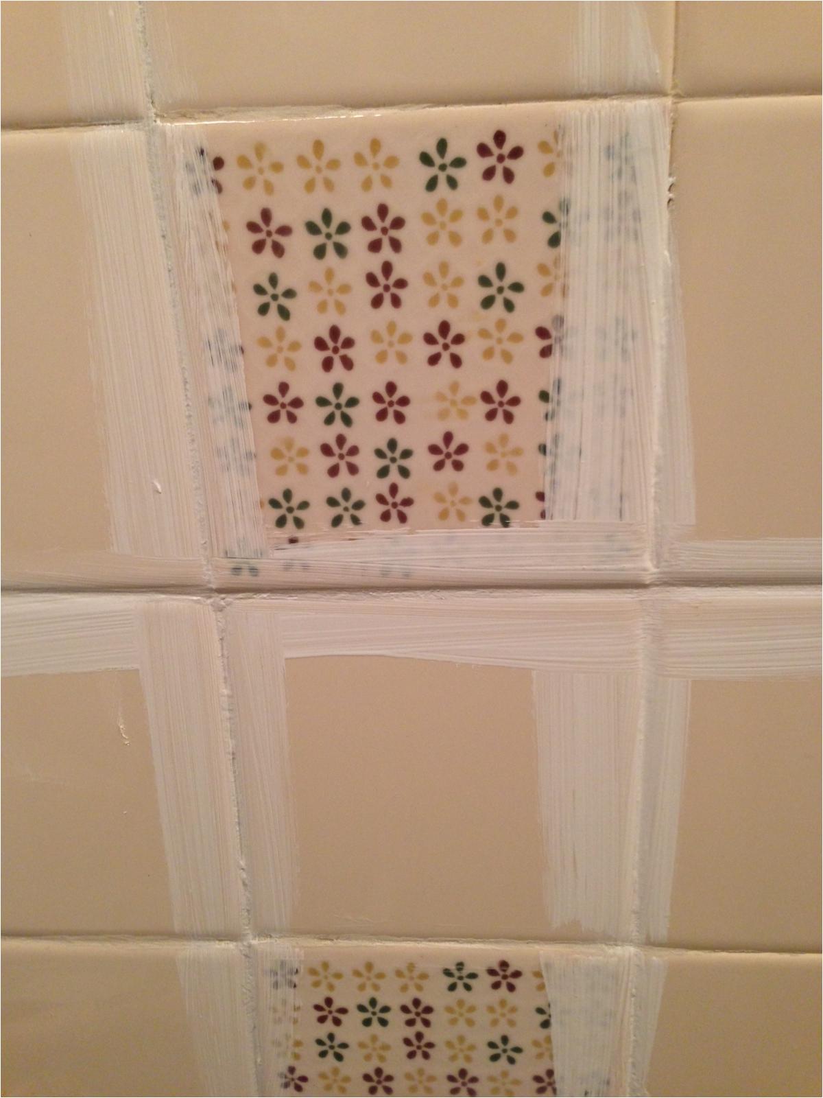 bud bathroom makeover painted tile