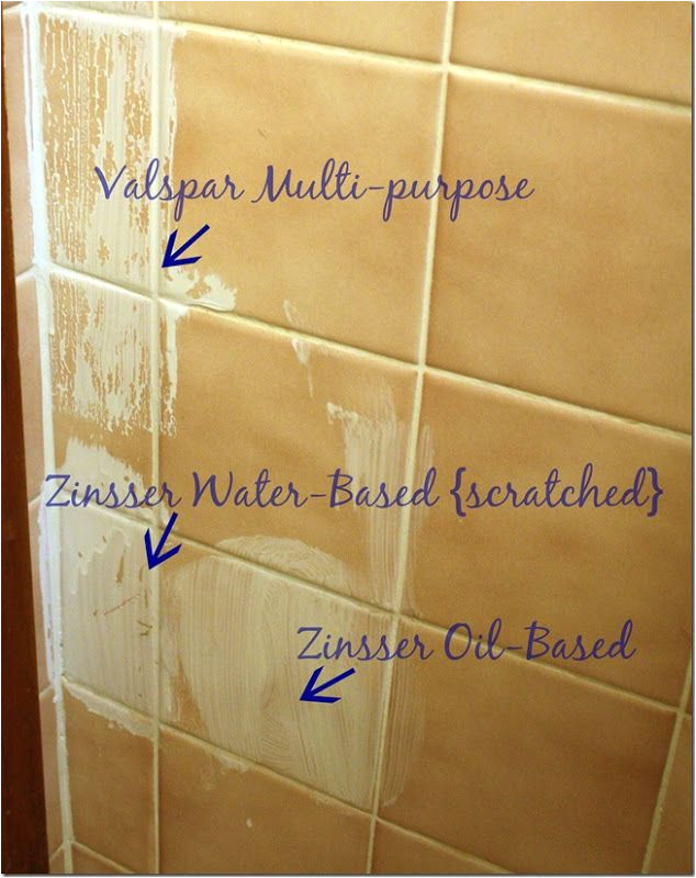 Painting Ceramic Bathtub to Prime Tile for Painting Use Zinsser Oil Based Primer