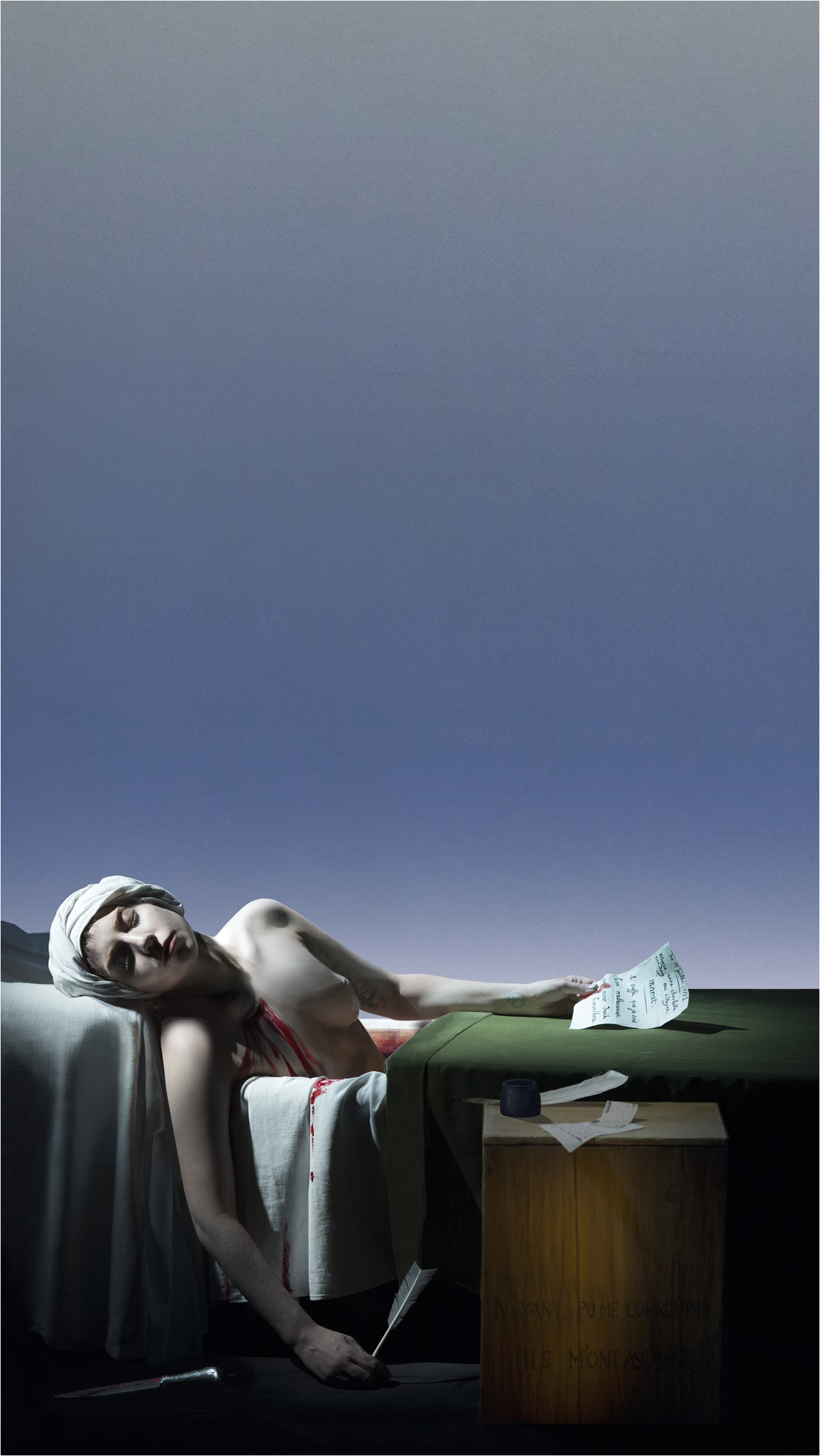 Painting Death Bathtub Art Basel Miami Beach 2014