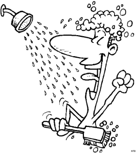 mann singt unter der dusche