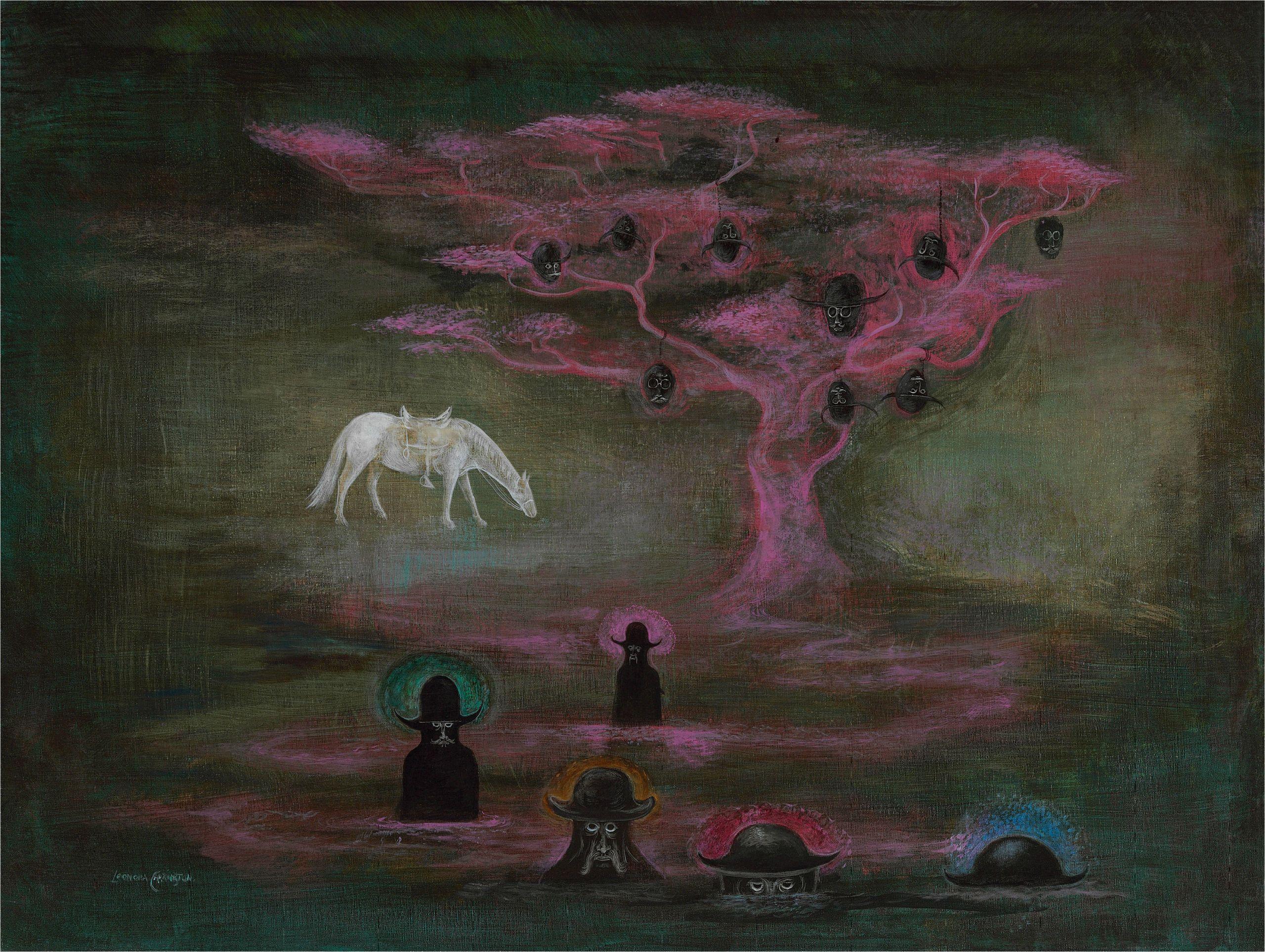 Painting Man In Bathtub Monster Brains Rip Leonora Carrington