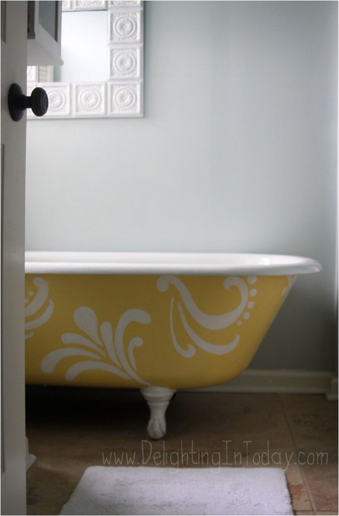 Painting Over Bathtub Painted Clawfoot Tub