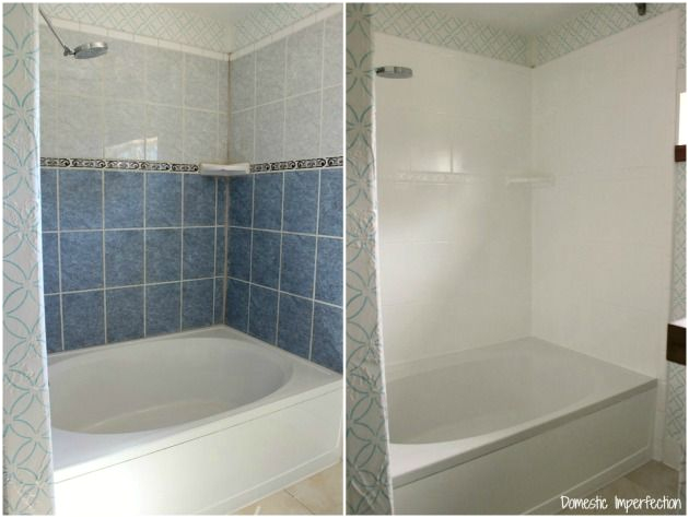 Painting Over Bathtub Tile How to Refinish Outdated Tile Yes I Painted My Shower