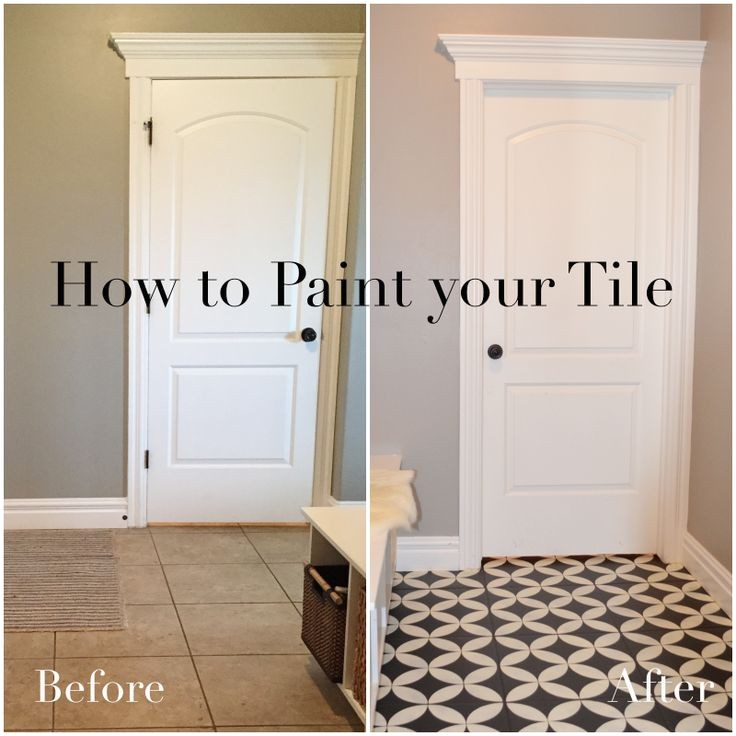 painting over tile floor in bathroom
