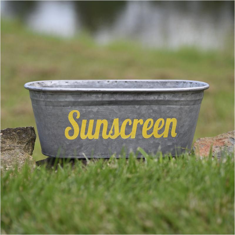 Painting Steel Bathtub A southern Bucket Sunscreen Storage Bin Galvanized Metal