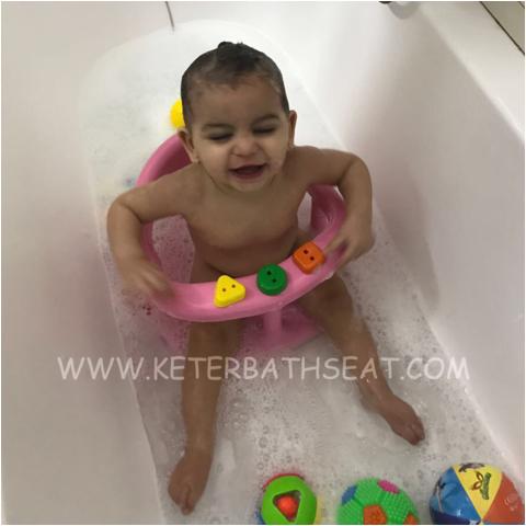 keter baby bathtub seat pink