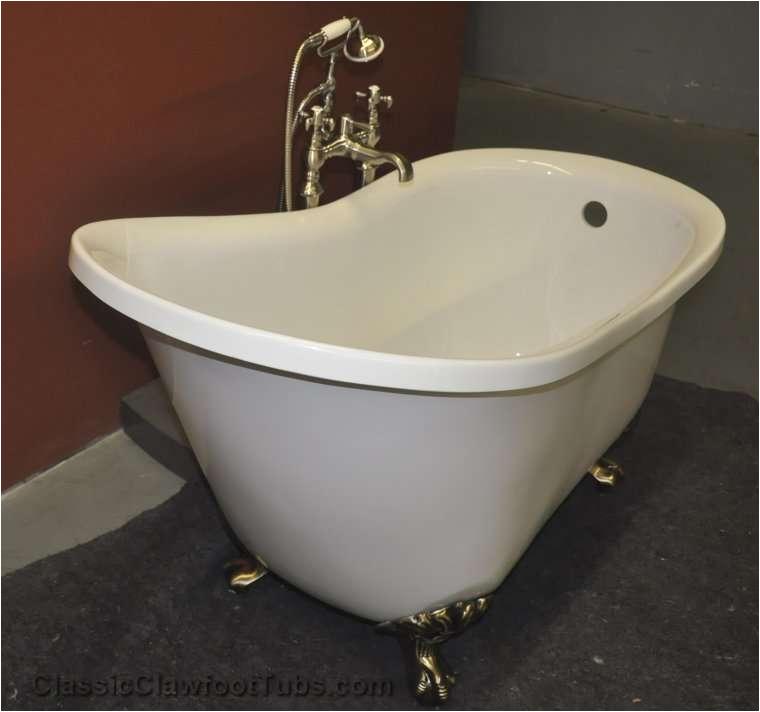 51 acrylic slipper clawfoot tub