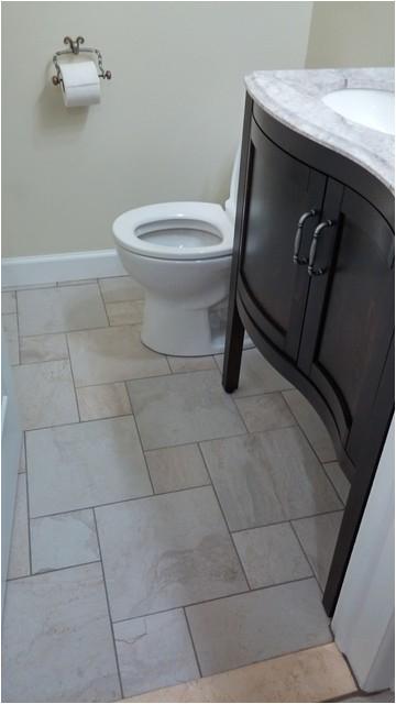 Bathroom Tile Style Selections Ivetta White Glazed Porcelain Floor Tile traditional bathroom detroit