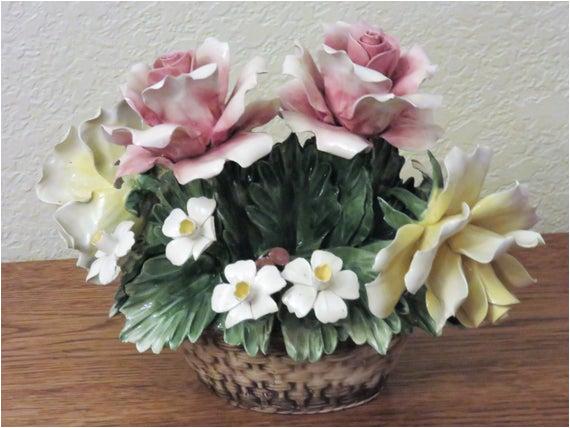 capodimonte porcelain flower basket