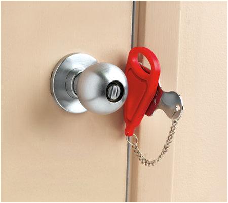 temporary portable door lock