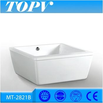 Portable Bathtub Acrylic Mt 2821b Portable Acrylic Square Shower Bathtub Buy