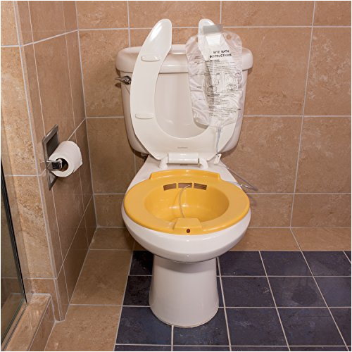 dmi portable bidet sitz bath smooth contoured plastic yellow