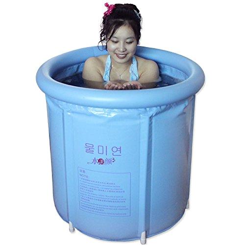 happy life portable plastic bathtub blue