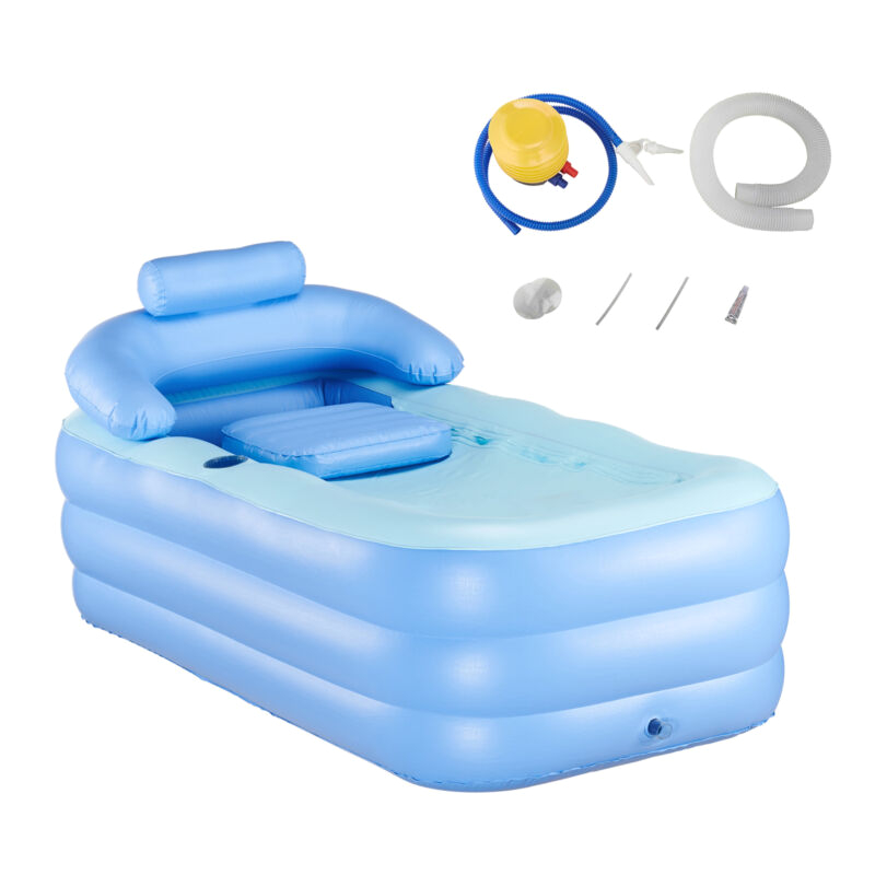 Portable Blow Up Bathtub Inflatable Bath Tub Adult Portable Spa Warm Bathtub Blow