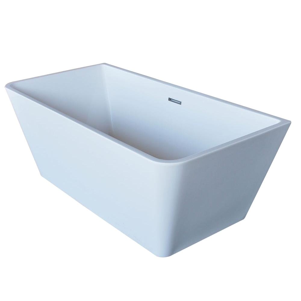 Rectangular Center Drain Bathtub Universal Tubs Purecut 5 6 Ft Acrylic Center Drain