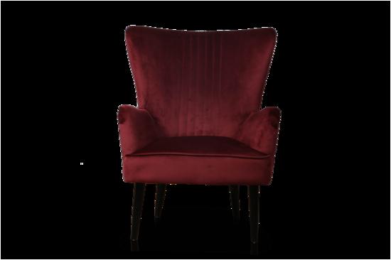 Astana Accent Chair Merlot Red Velvet
