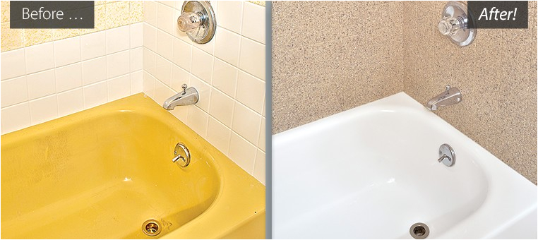 Reglaze Bathtub before after Refinished Bathtubs Countertops Resurfaced Tile Reglazing