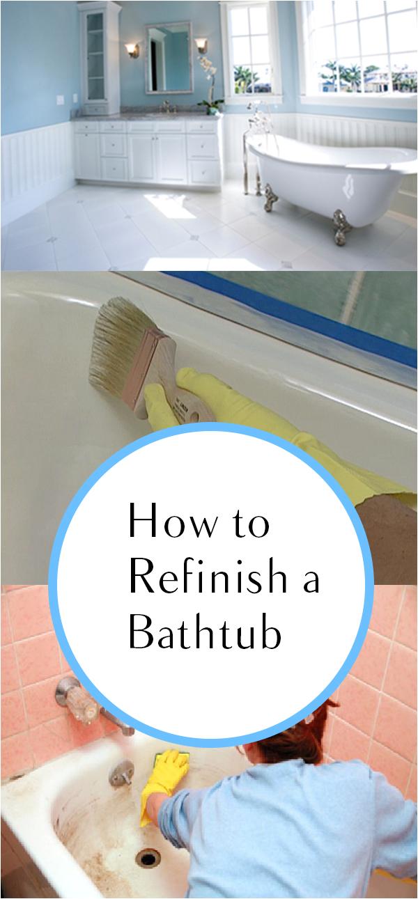 Reglaze Your Tub How to Refinish A Bathtub