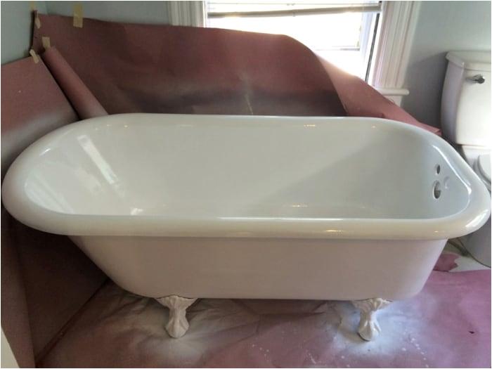 Reglazing Bathtub Steps How to Refinish A Bathtub