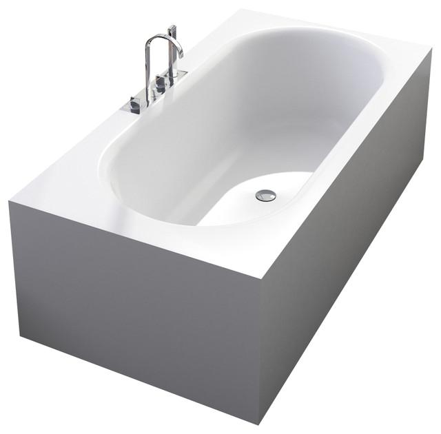 ADM Matte White Stand Alone Resin Bathtub Matte modern bathtubs