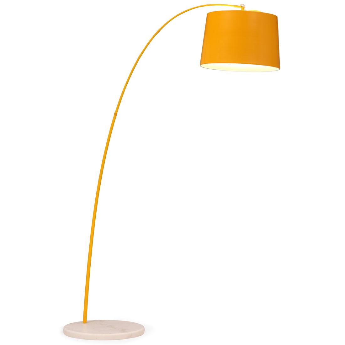 retro yellow floor lamp with copper stem 2f9c c13a3c5