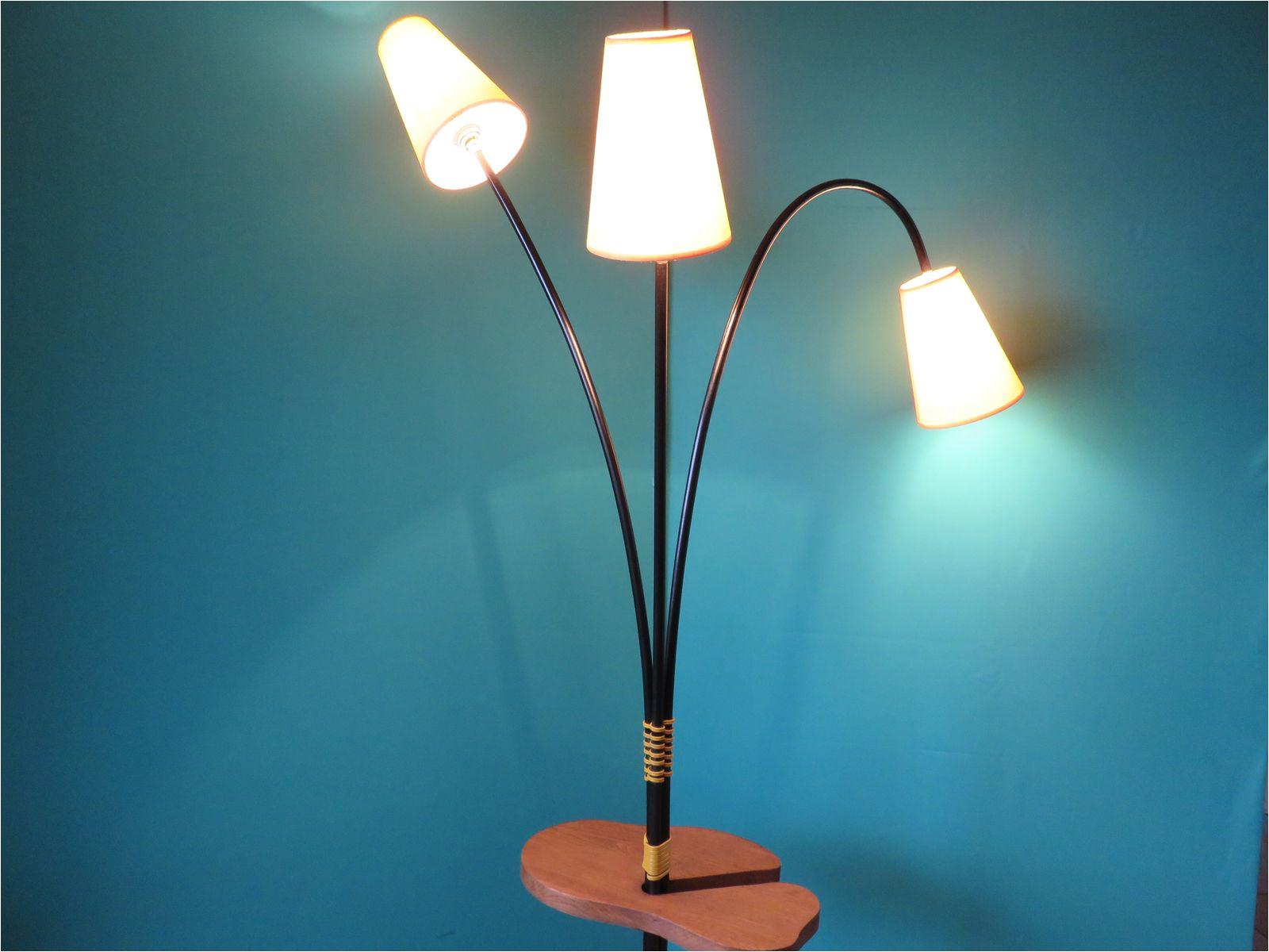 vintage yellow floor lamp 1950s