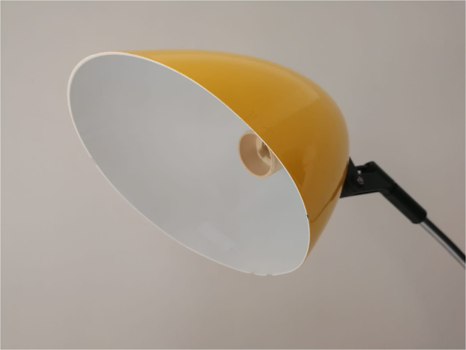 vintage yellow floor lamp 1970s 1