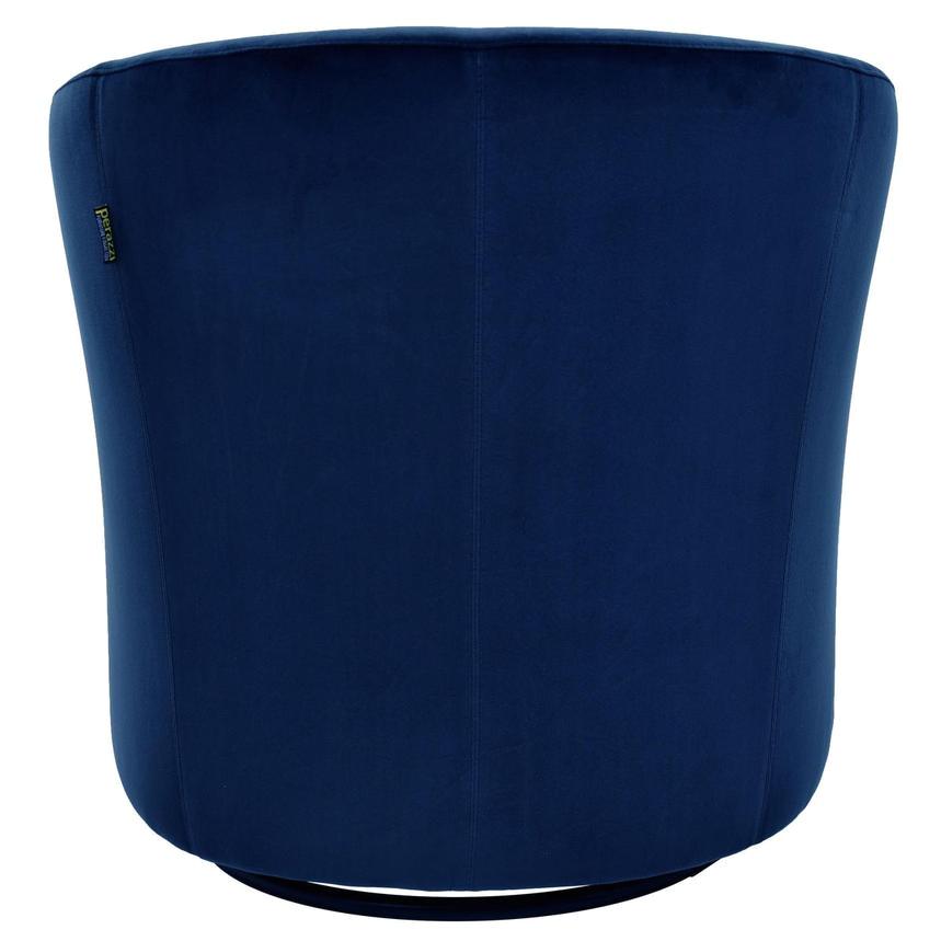 delia blue swivel accent chair
