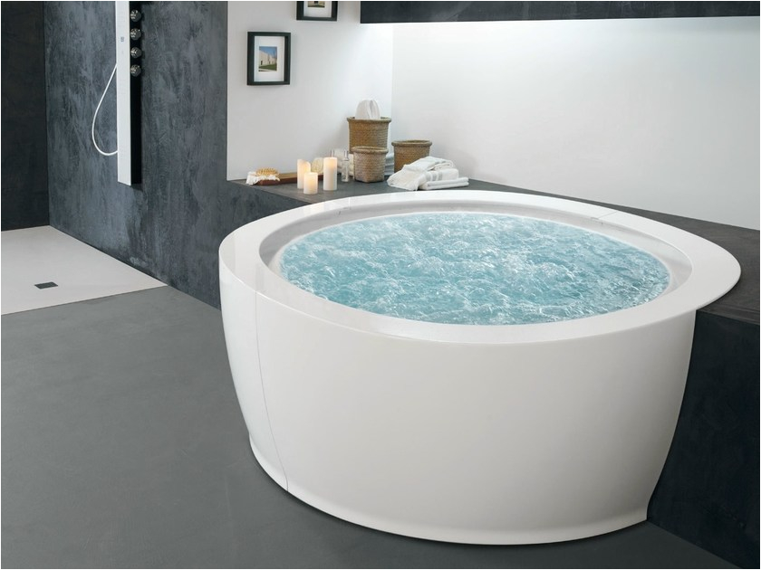 bolla whirlpool round bathtub bolla sfioro 190 hafro