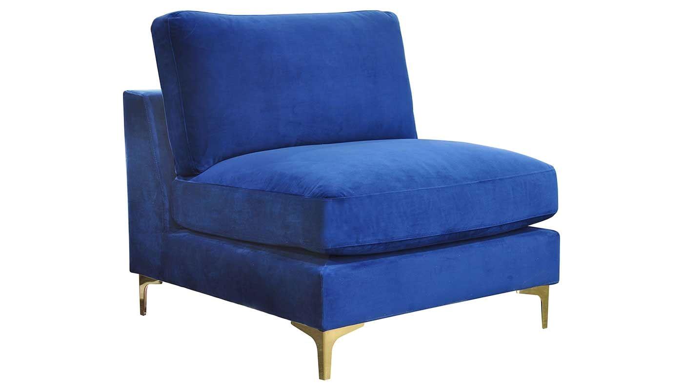 rhodes royal blue accent chair
