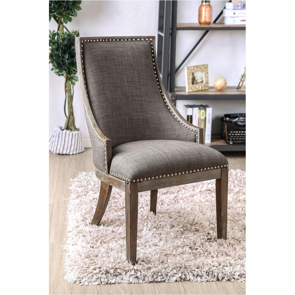 furniture of america iqaluit rustic accent chair cm ac6075