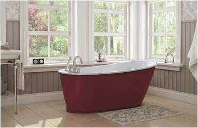 maax sax oval freestanding fiberglass bathtub