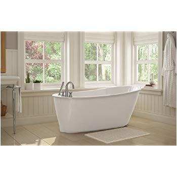 Sax Freestanding Bathtub Sax 5 Ft Freestanding Reversible Drain Bathtub In White