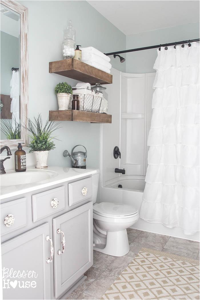 Simple Bathtub Designs Modern Farmhouse Bathroom Makeover Reveal